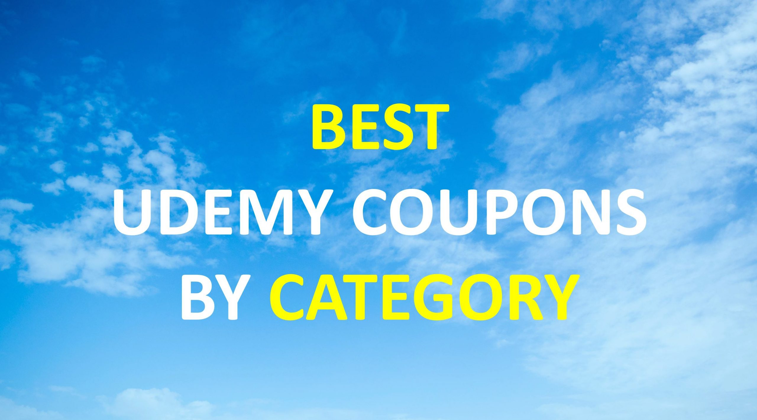 Best Udemy Coupons By Category