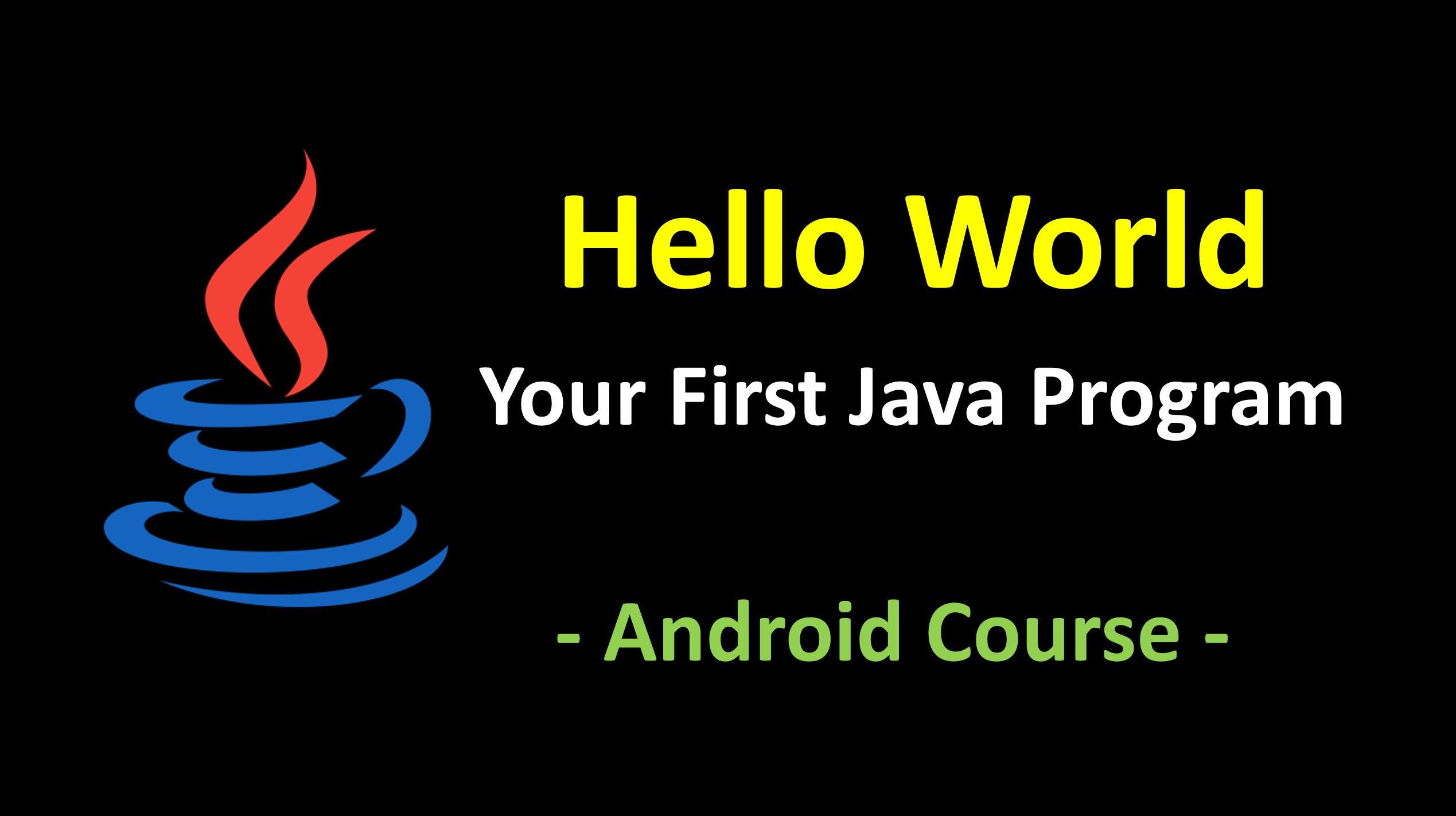 Your First Java Program - Hello World