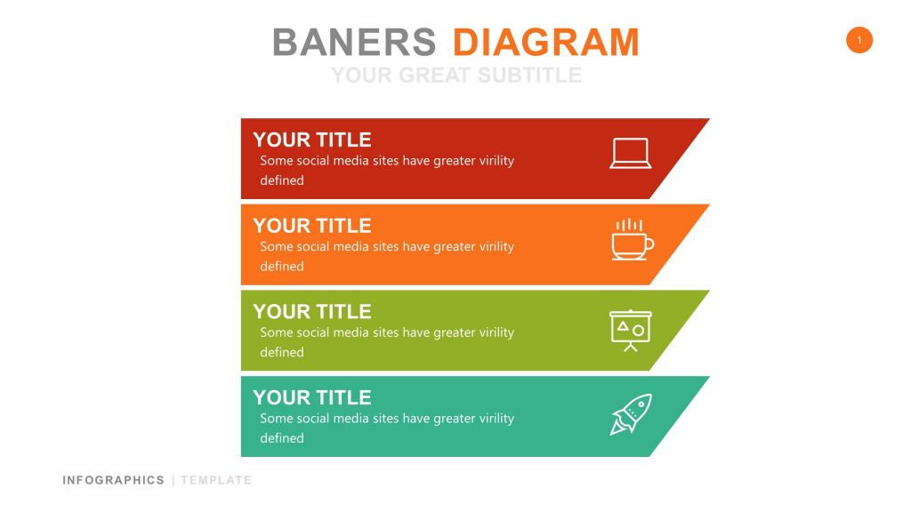 Banner White Infographic PowerPoint 1