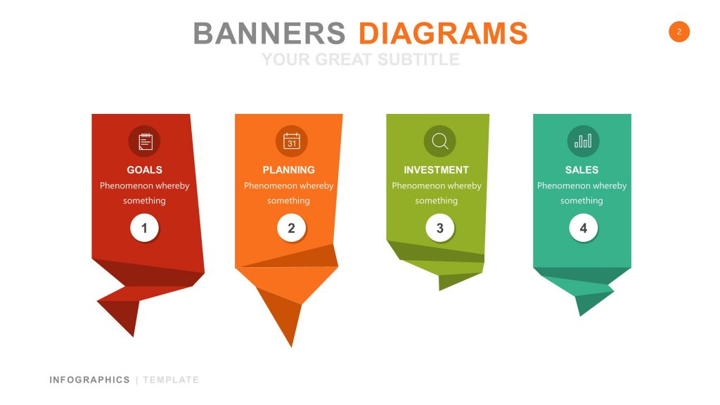 Banner White Infographic PowerPoint 2