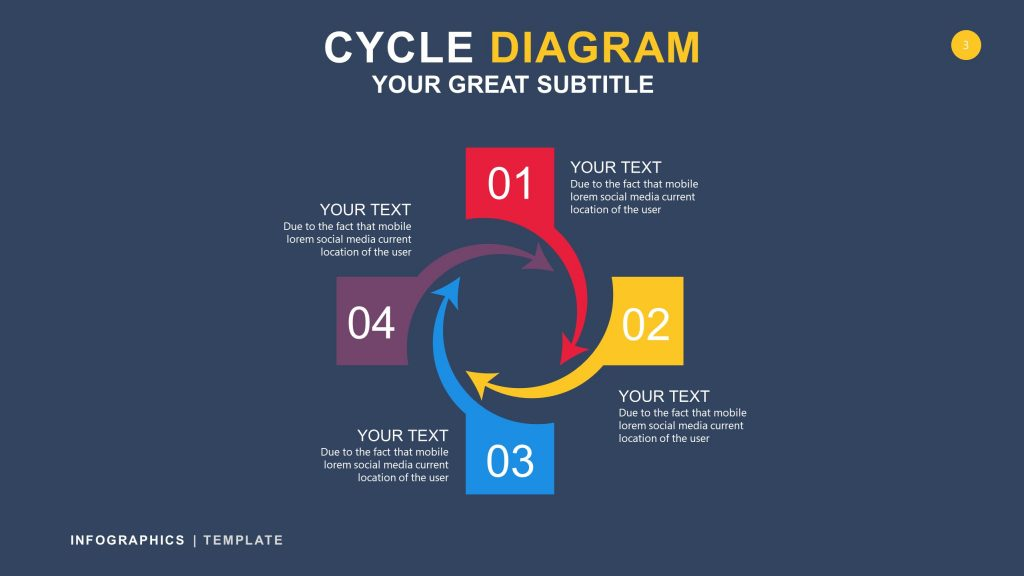 Cycle Black Infographic PowerPoint 3