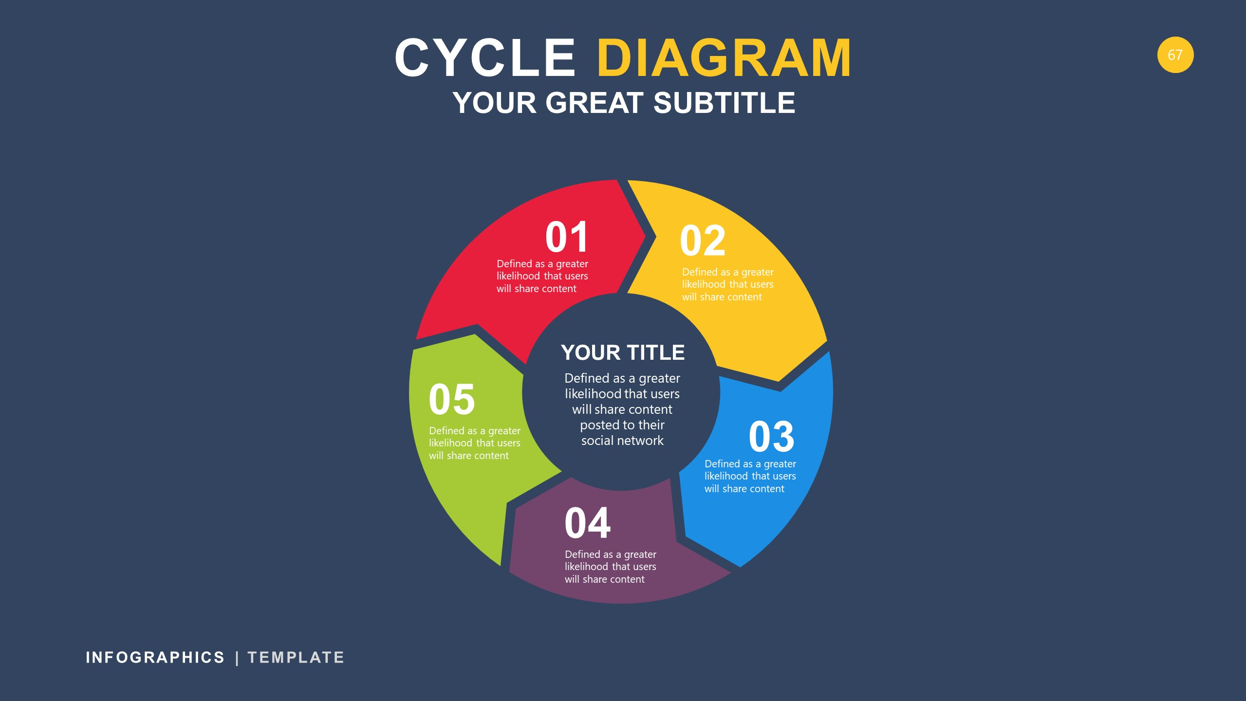 Cycle Black Infographic PowerPoint 67