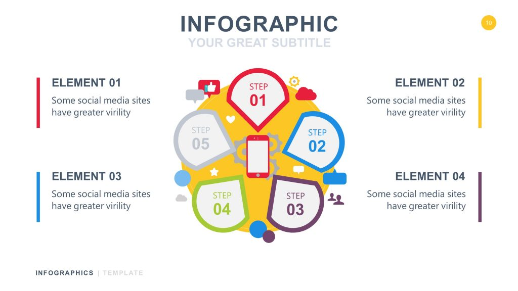 Cycle White Infographic PowerPoint 10