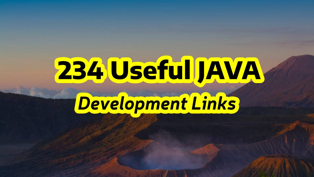 List of Useful Java Development Links