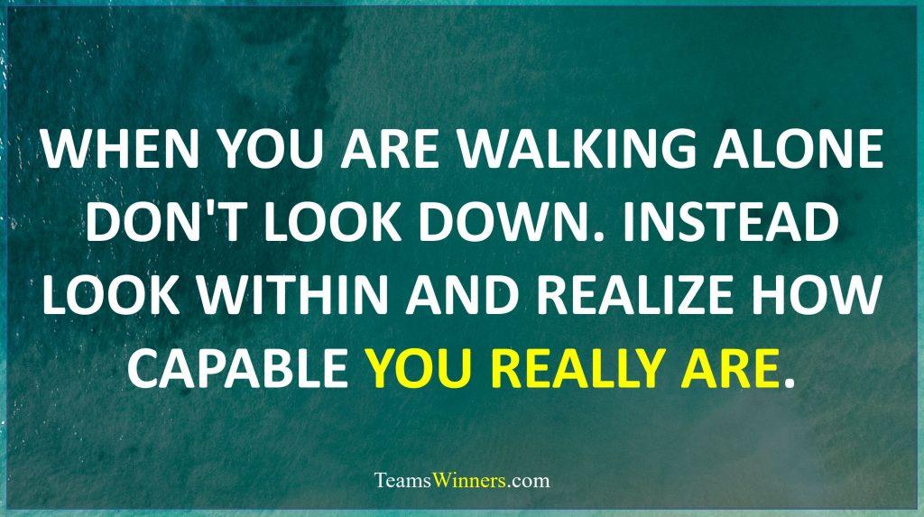 When you're walking solo don't look down – Kristen Butler