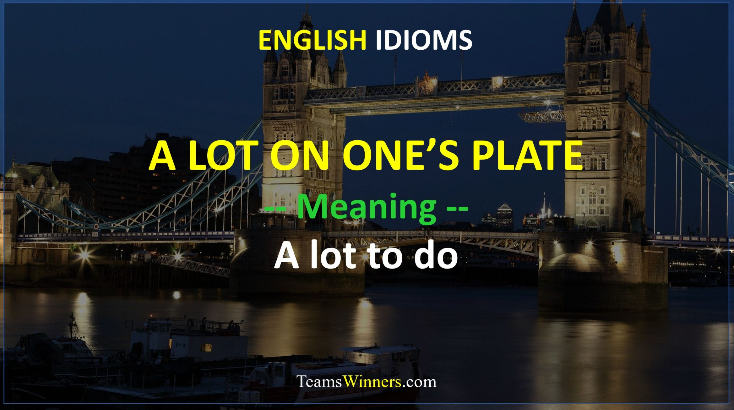 English Idiom - A Lot on One's Plate