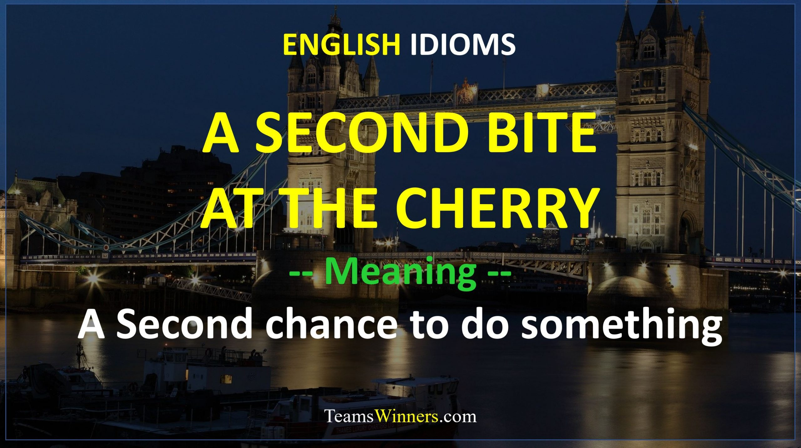 English Idiom - A Second Bite At The Cherry
