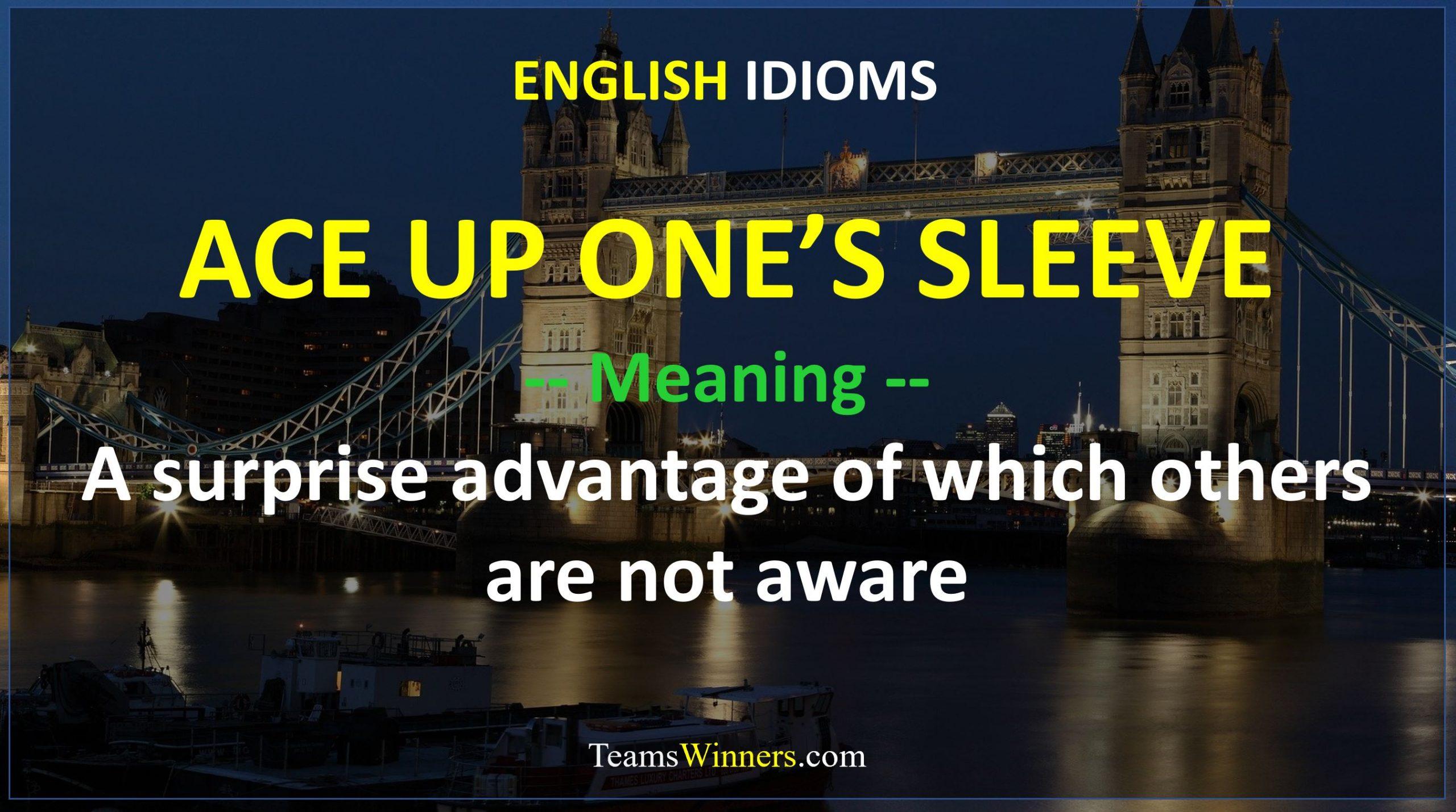 English Idiom - Ace Up One's Sleeve