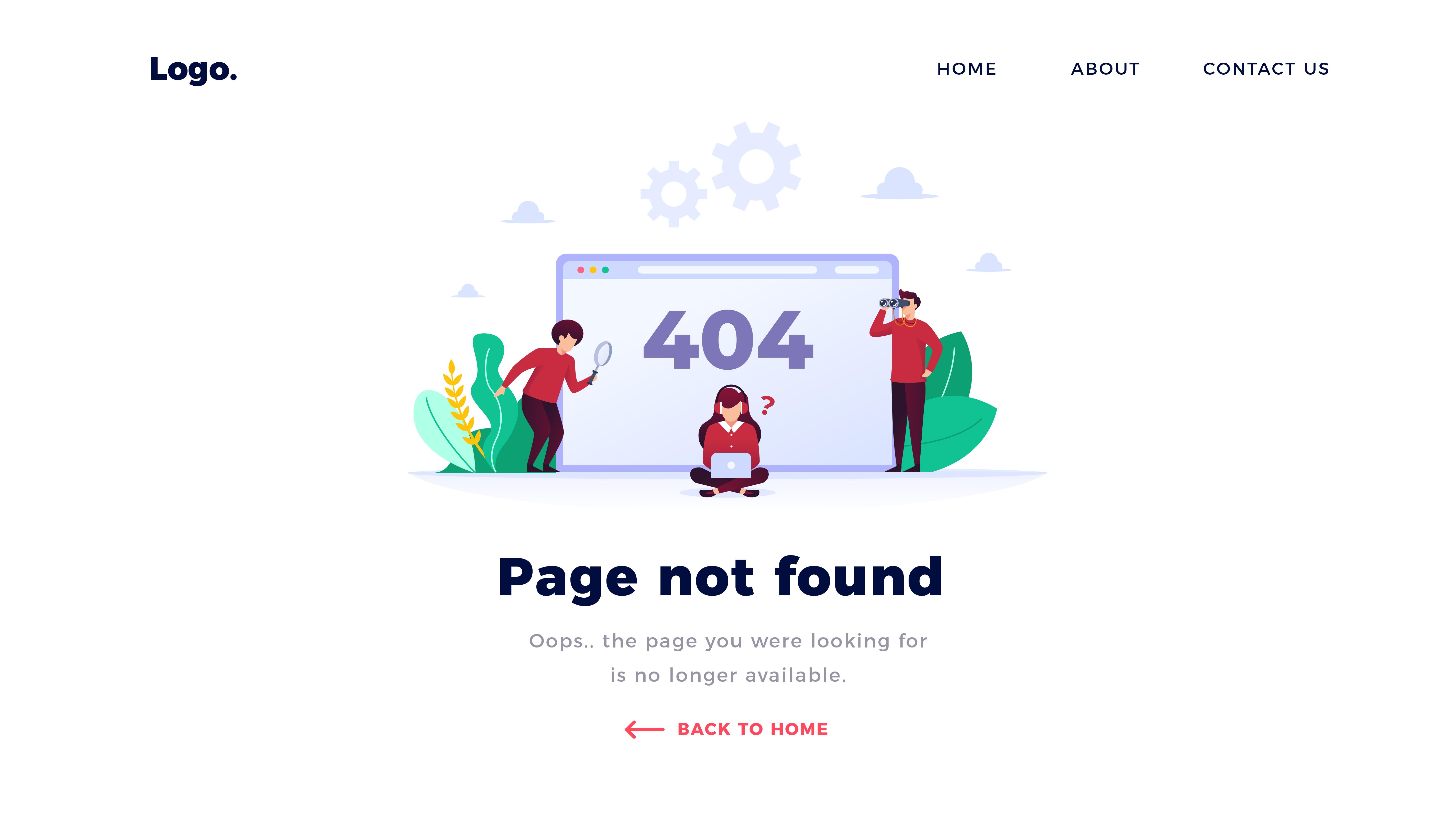 Error 404 - Landing Page