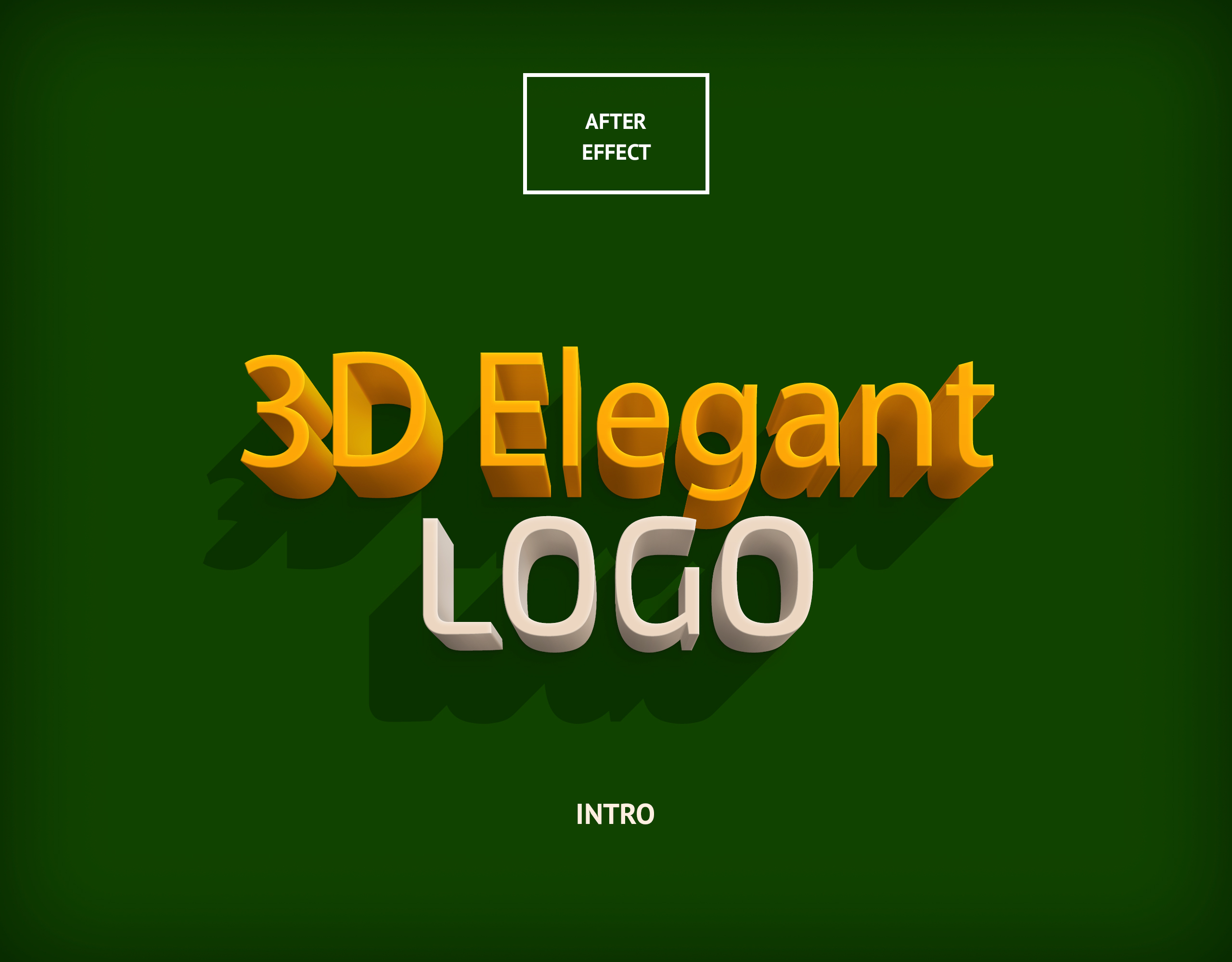 Free After effect template - 3D Elegant Logo