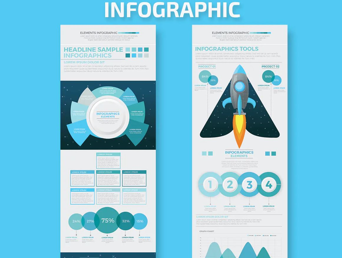 Startup blue infographic (screen 2)