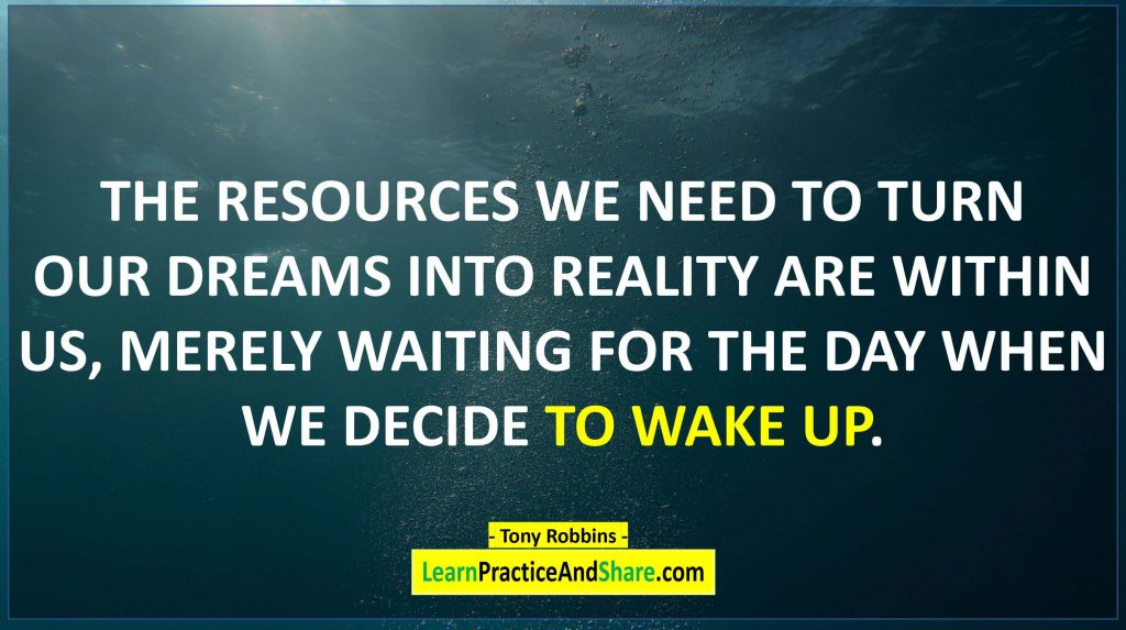 Tony Robbins - The resources we need to turn our dreams into reality