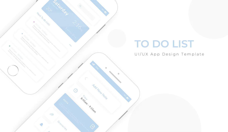 To Do List App Design