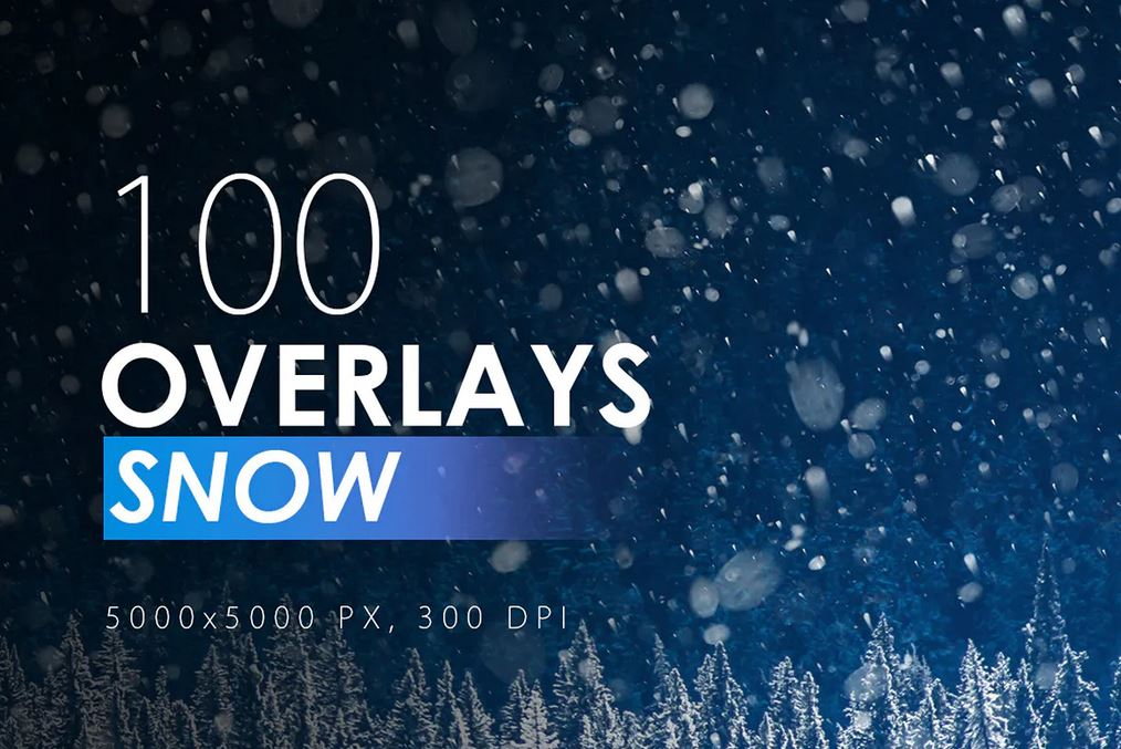 100 Snow Overlays for Illustrator