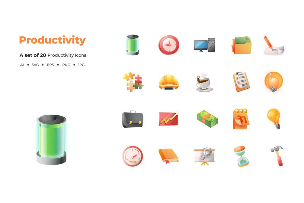 20 Productivity icons