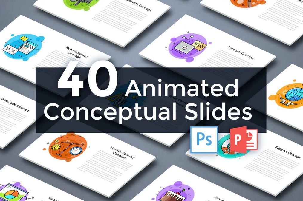 40 Animated Conceptual Slides