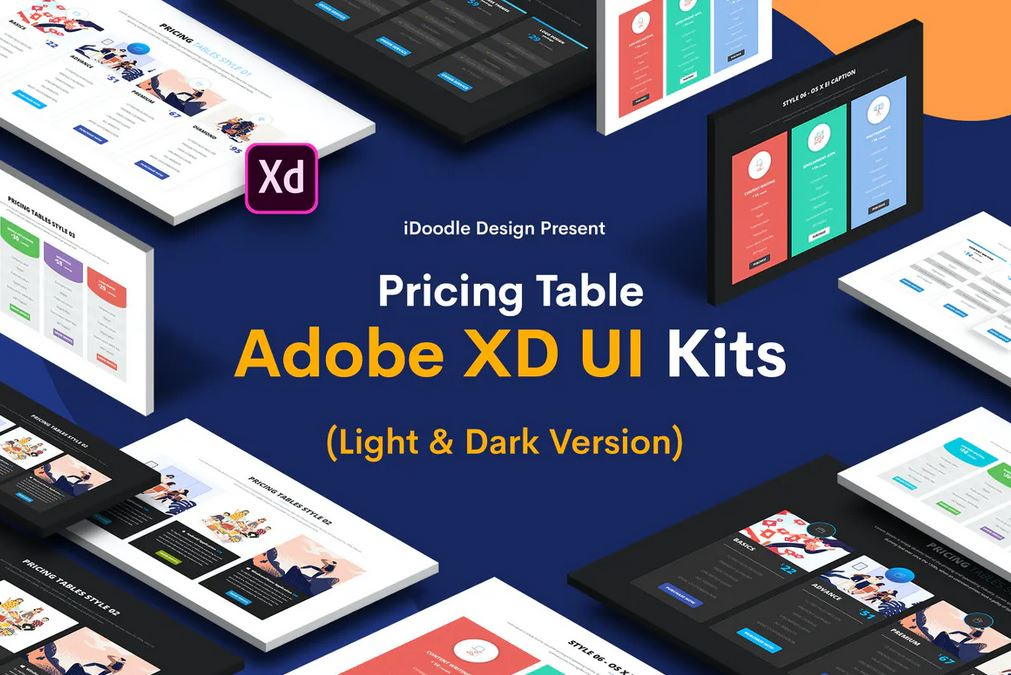 Adobe XD Princing Table UI Kits