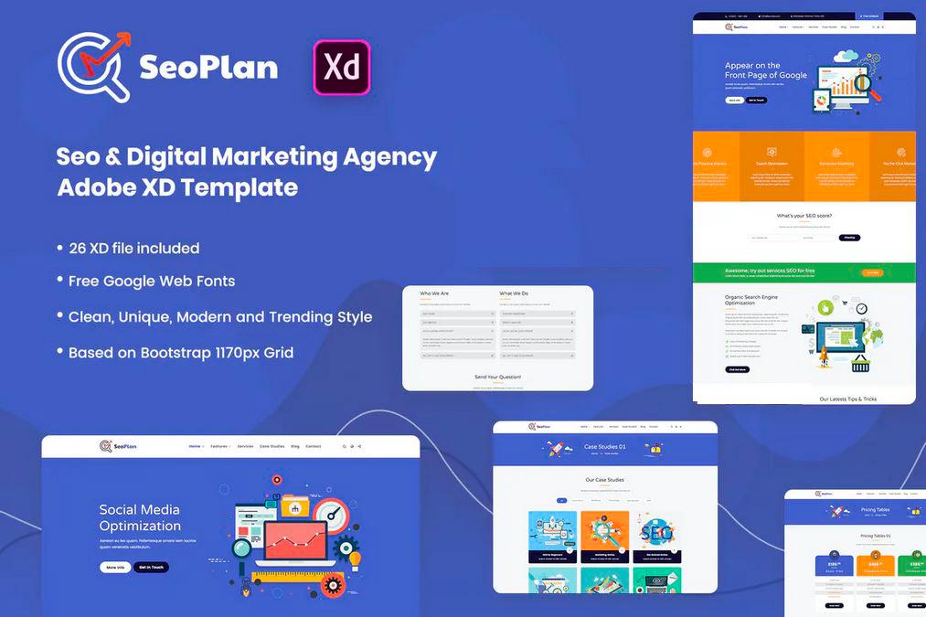 Adobe XD Seo Plan UI Kit Templates