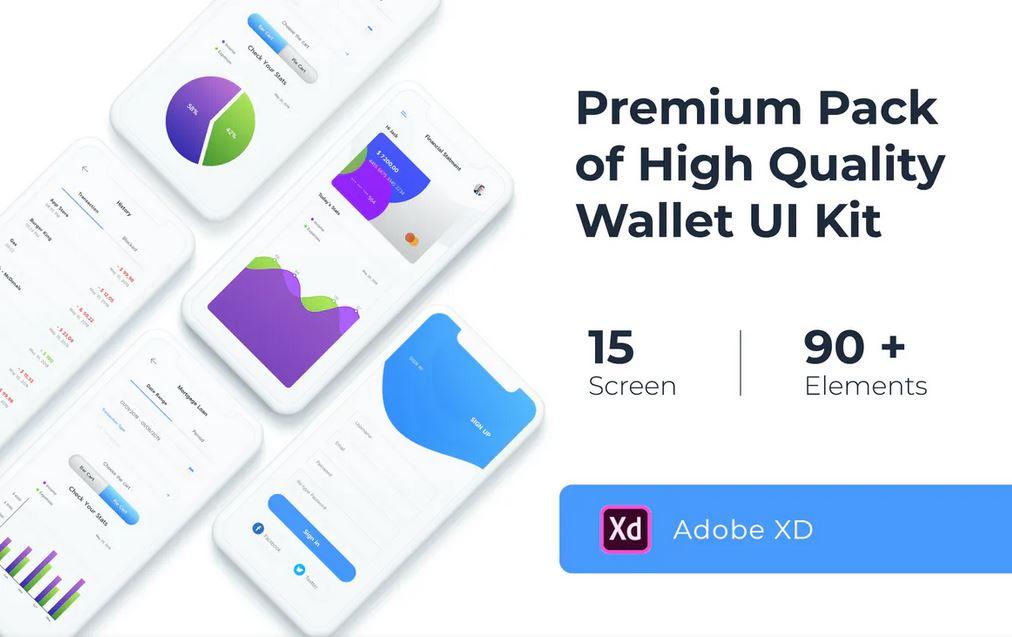 Adobe XD Wallet UI Kit