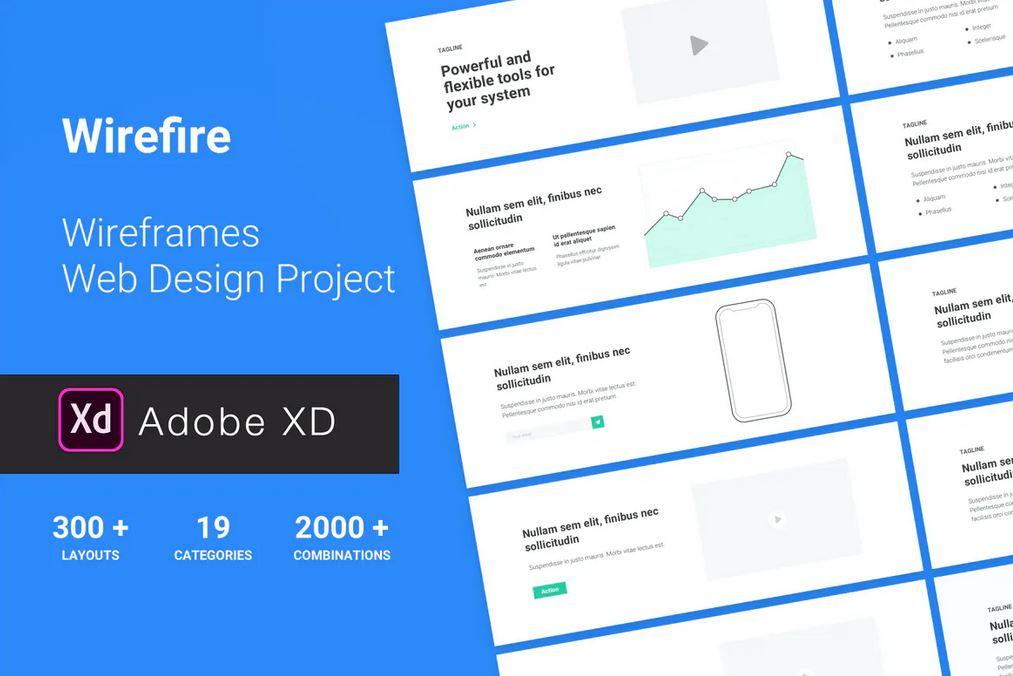 Adobe XD Wireframe Web Design