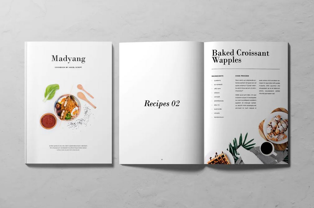 Cookbook Template with InDesign
