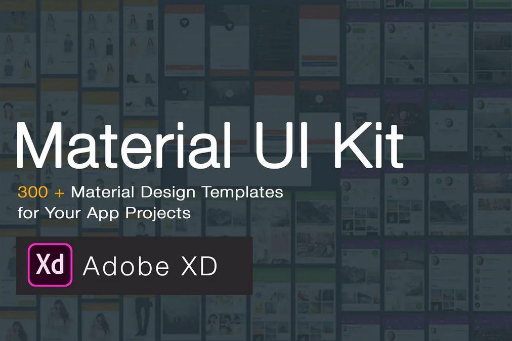 Materiel UI Kit 300 Screens for Adobe XD