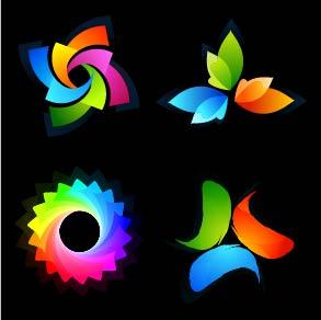 4 Colorful Logos for Illustrator