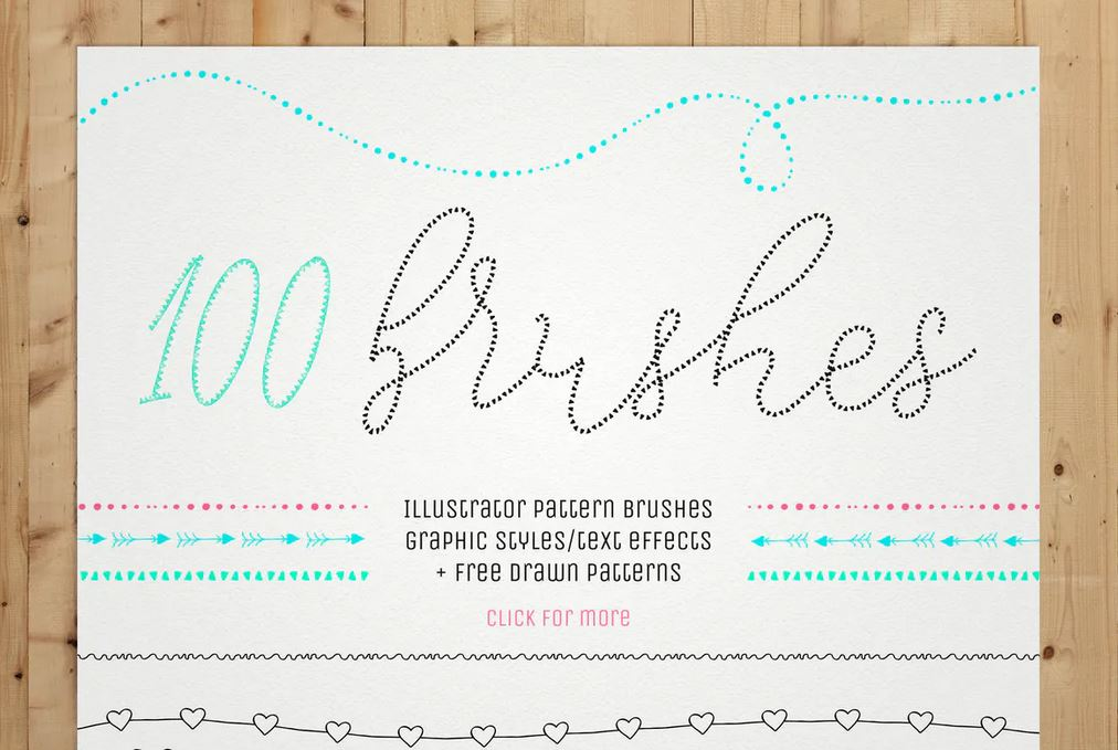 100 Pattern Brushes and 9 Graphic Styles for Illustrator