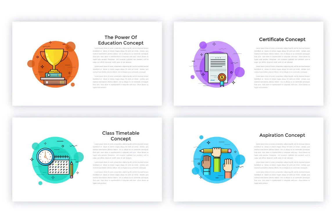34 Animated Conceptual Slides for powerpoint