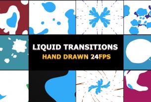 2D Liquid FX transitions for Premiere Pro