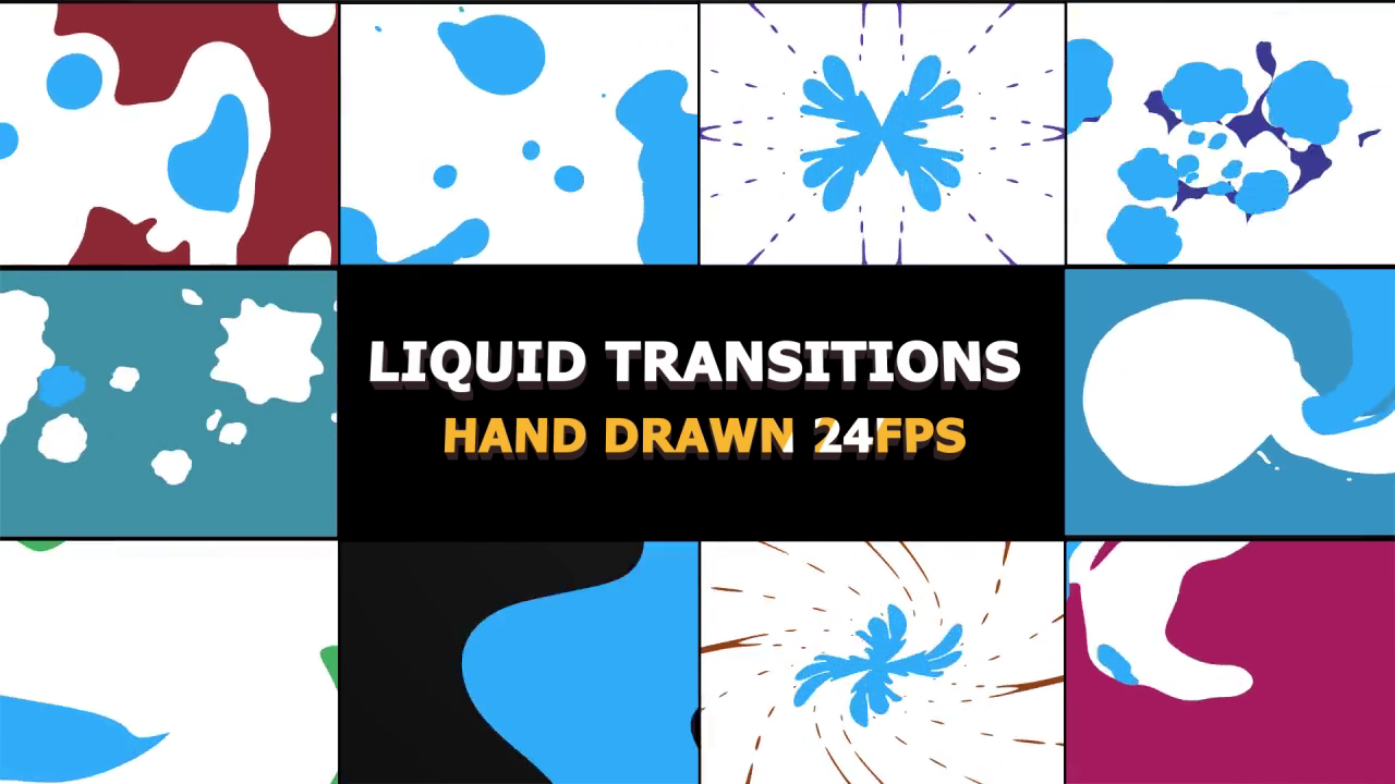 2D Liquid FX transitions for Premiere Pro