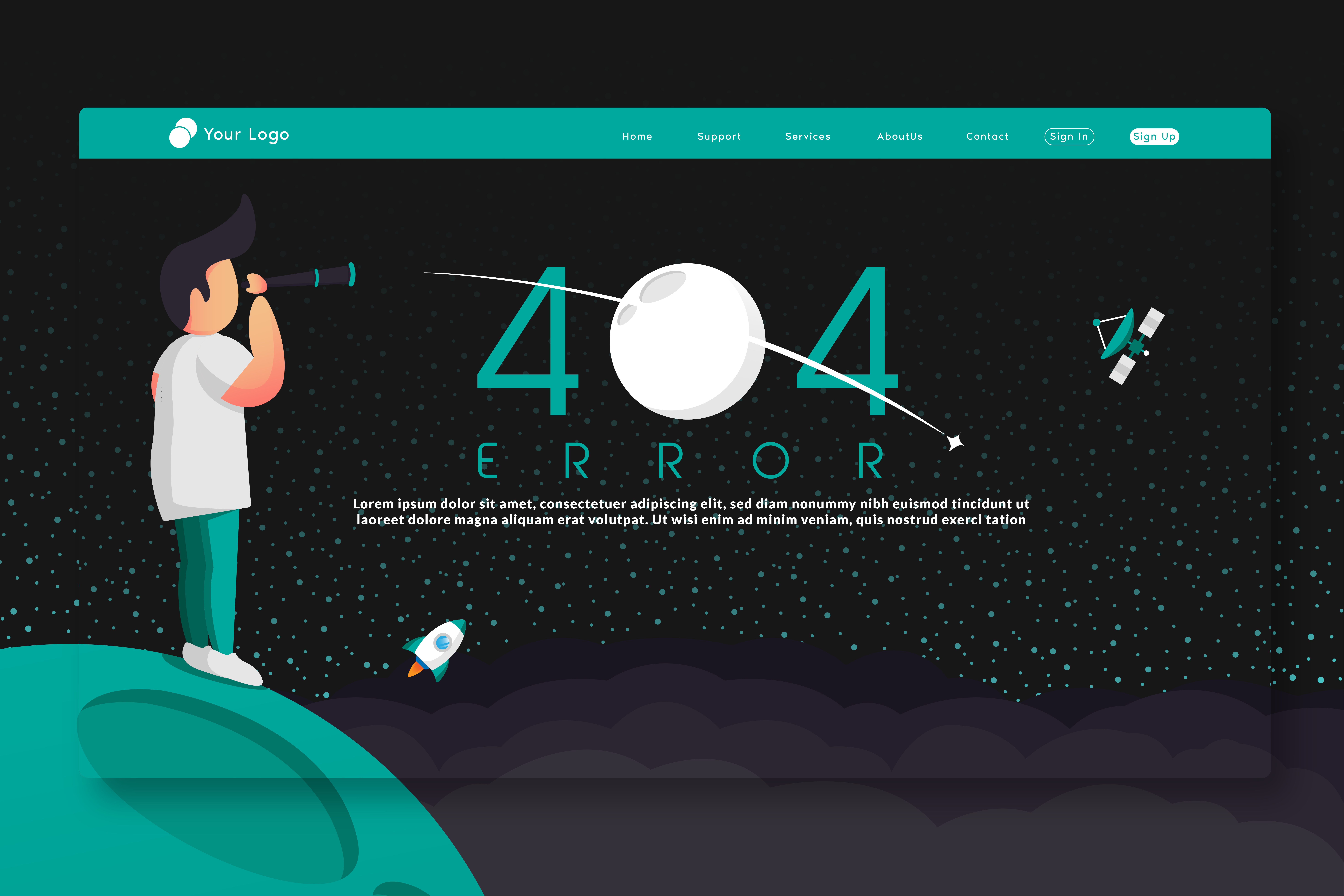 404 Error page template 2