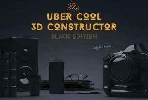 Photoshop 3D Constructor - Black