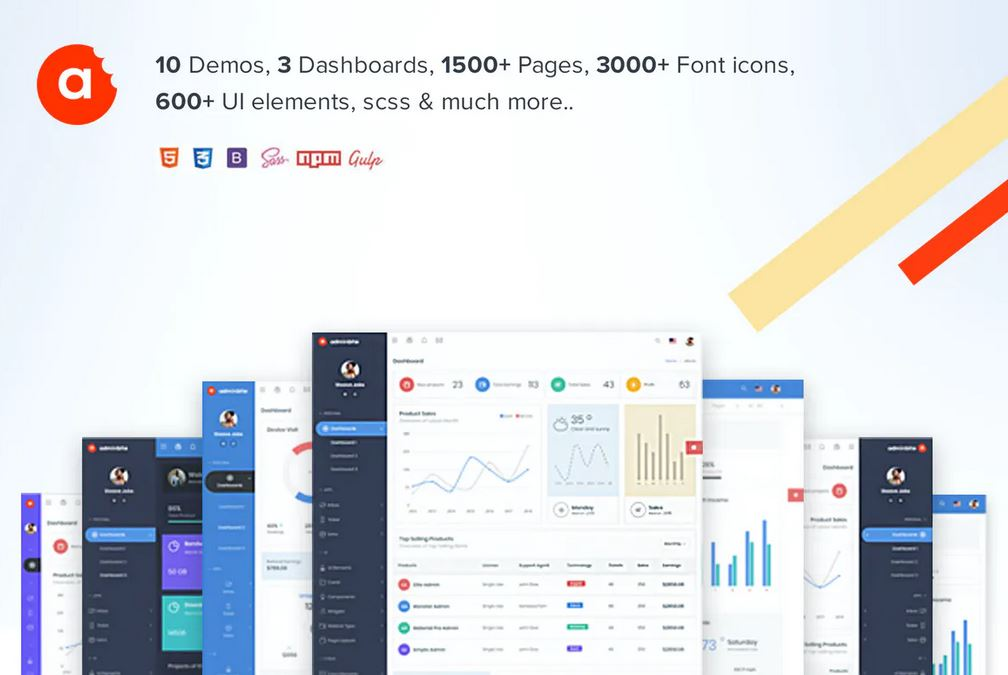 Powerful Bootstrap 4 Admin Template 1