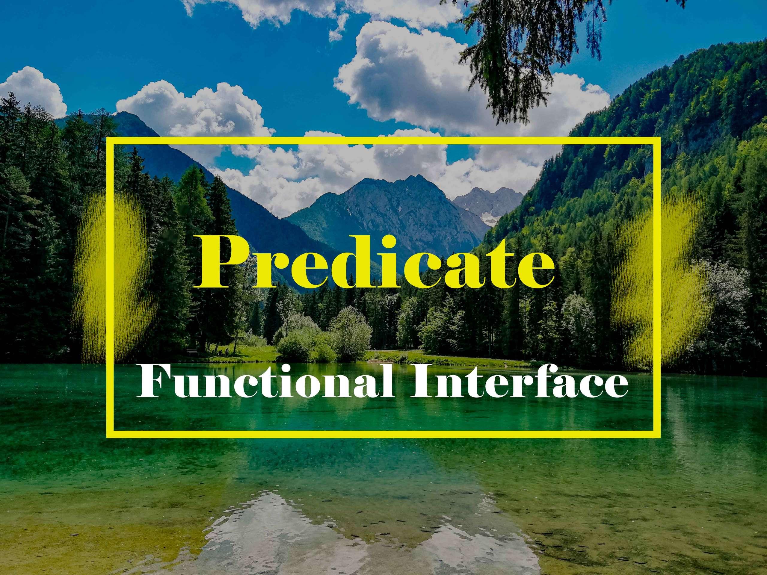 Predicate Functional Interface Java 8