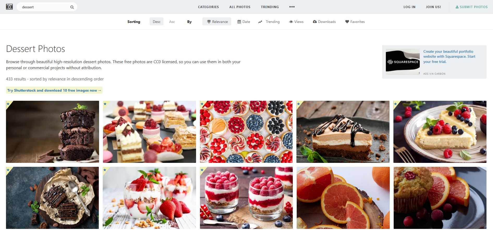 Stocksnap website