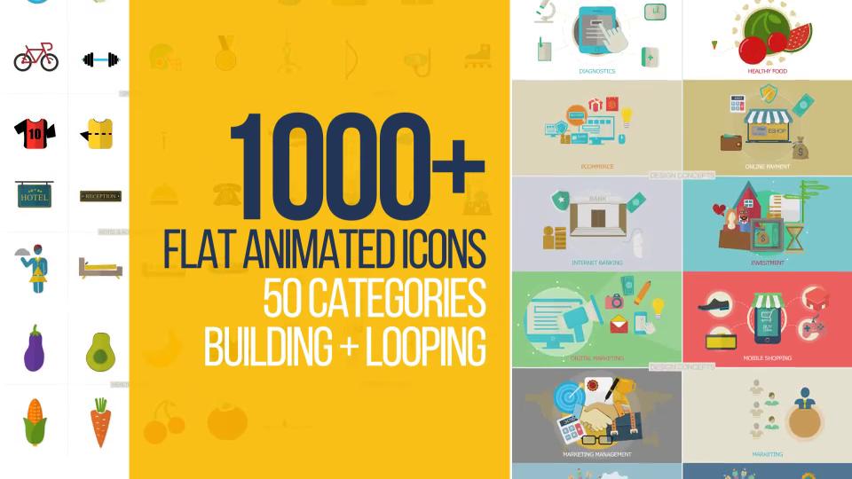 1000+ Flat animated icons
