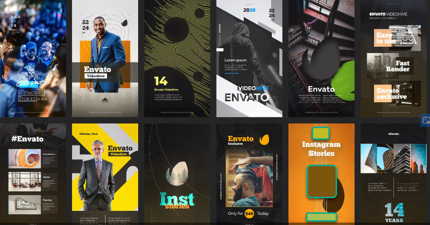 12 Instagram Stories Vol 1 for After Effects
