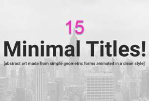 15 Clean and Minimal Titles for After Effects