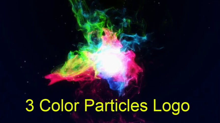 3 Color Particles Logo
