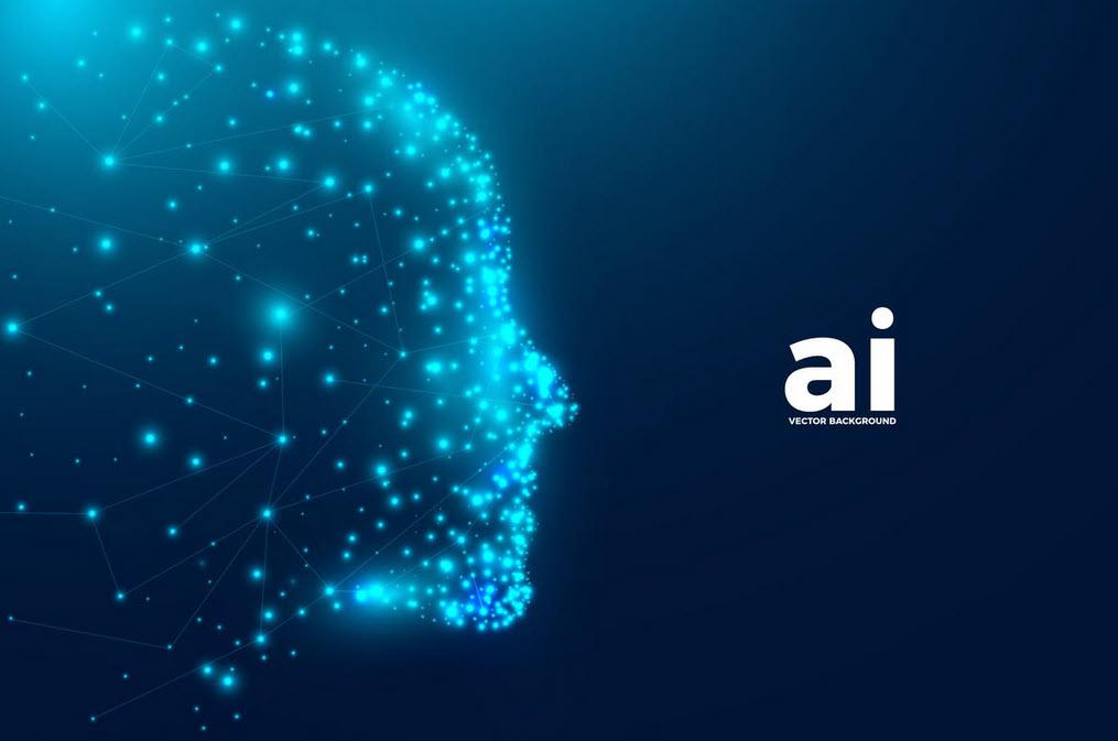 Intelligence Artificielle Vector Background