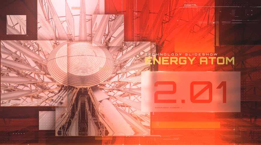 Energy Atom Techno Slideshow for After Effects