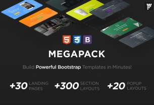 MEGAPACK of Marketing HTML Landing Pages Pack