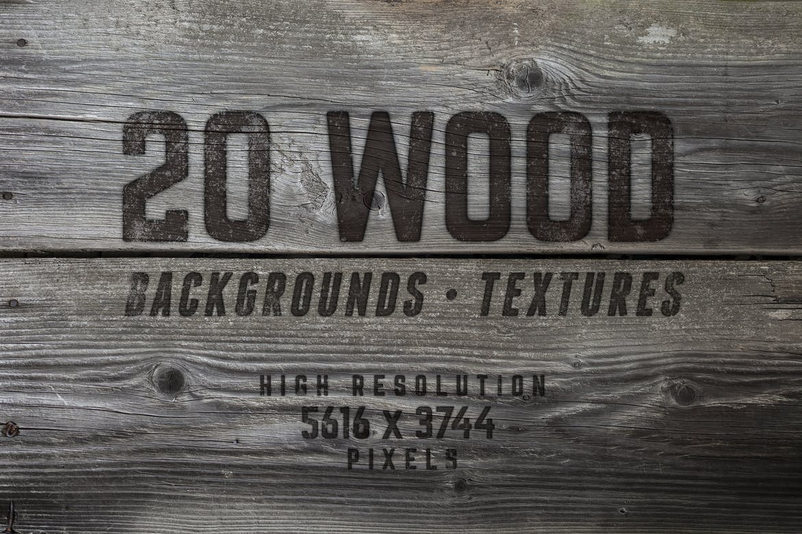 20 Wood Textures Backgrounds