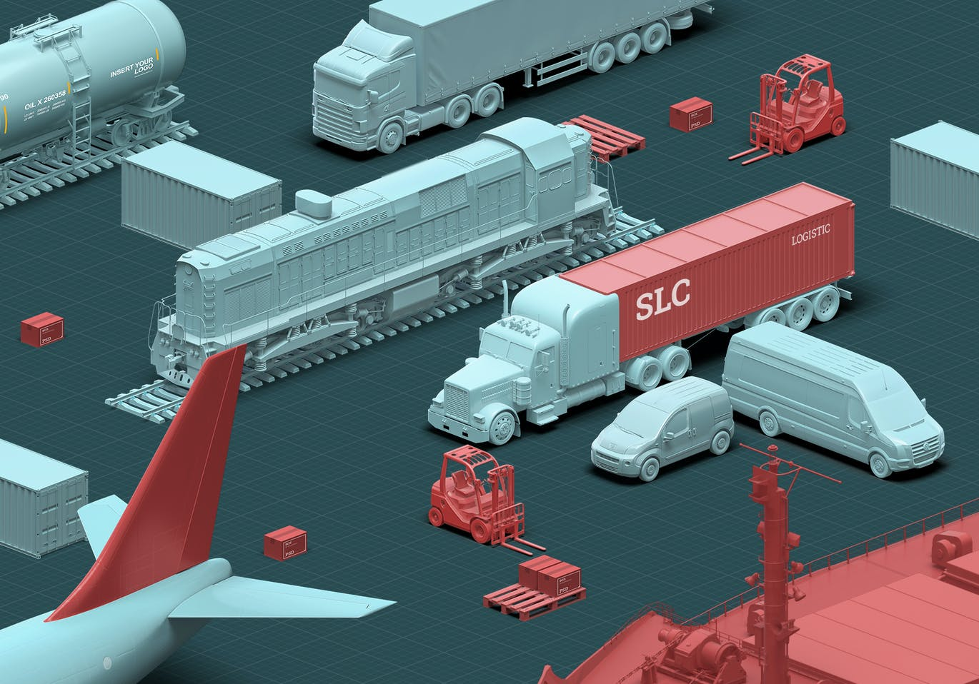 3D Scene Generator Transport & Logistic 2