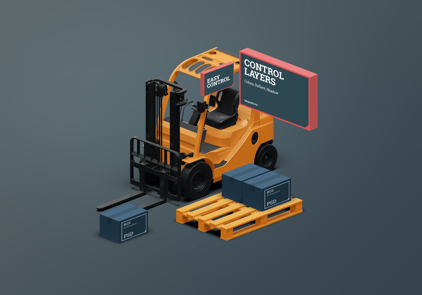 3D Scene Generator Transport & Logistic 3