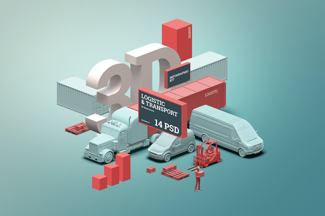 3D Scene Generator Transport & Logistic