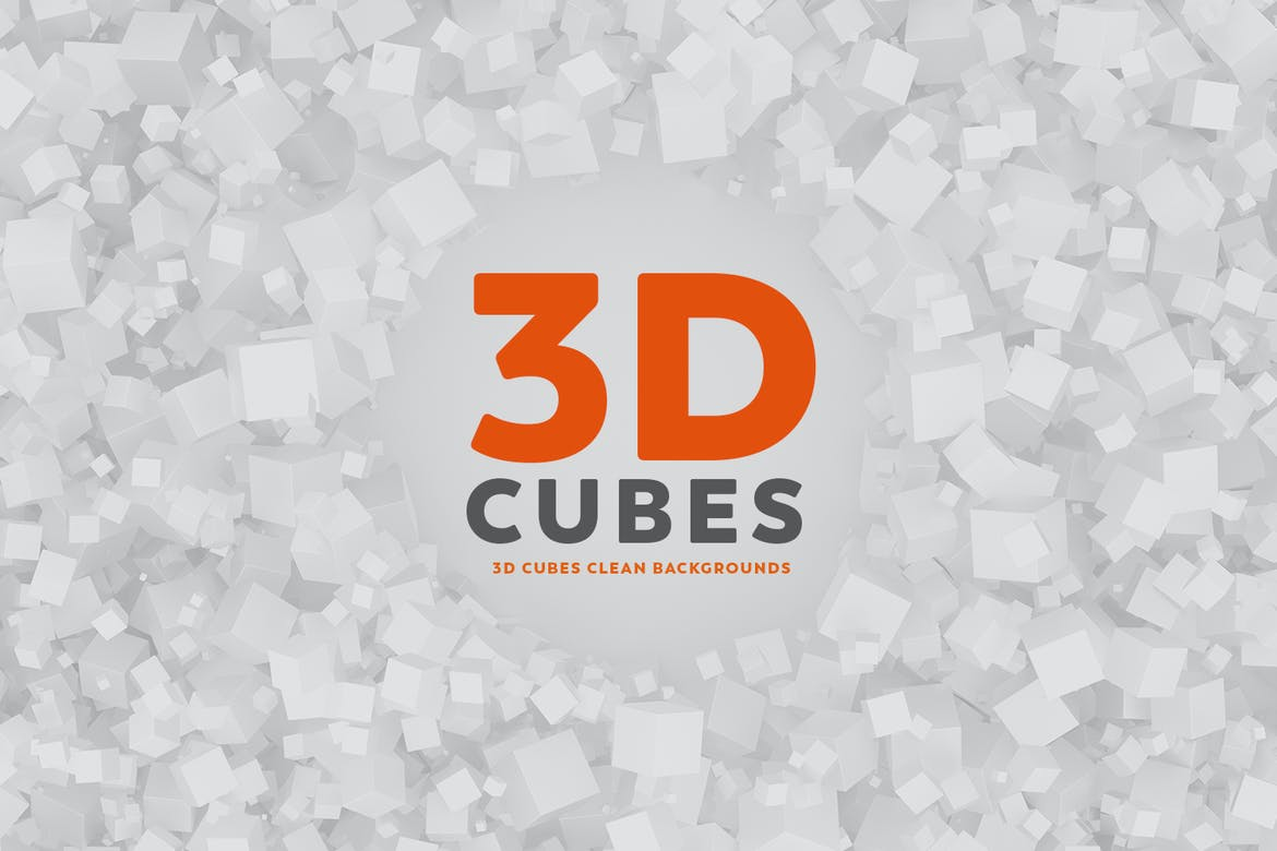 3d Cubes Clean Backgrounds