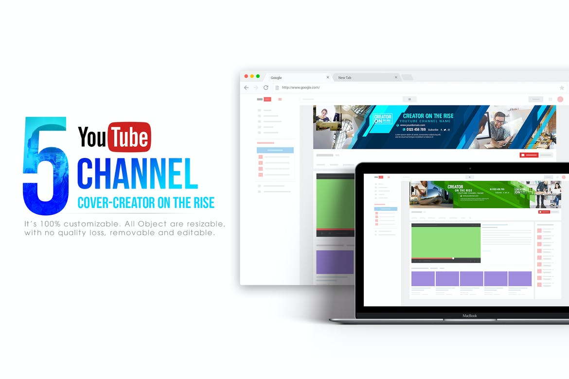 5 Creator on the Rise-Youtube Banners Template