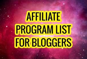 Affiliate Program List for Bloggers